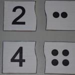 Карти-пъзел точки и числа