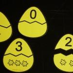 Великденски яйца за броене от 0 до 20