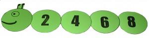 гъсеница с четни числа