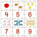 Табло с цифри от 1 до 9