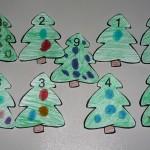 Коледни елхички за броене