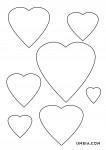 шаблон сърца