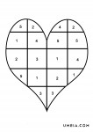 сърце с числа