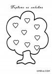 дърво със сърца