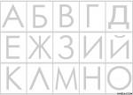 букви А - О