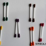 Мемори цветове с клечки за уши