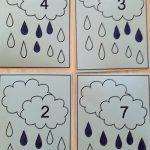 Преброй и оцвети дъждовните капки