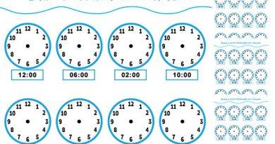 Колко е часът? Отбележи със стрелки